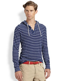 Polo Ralph Lauren - Striped Waffle-Knit Hoodie
