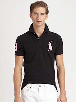 Polo Ralph Lauren - Custom-Fit Short-Sleeved Big Pony Mesh Polo