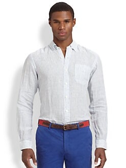 Polo Ralph Lauren - Custom-Fit Striped Linen Sportshirt