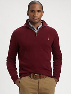 Polo Ralph Lauren - Sueded Jersey Half-Zip Pullover