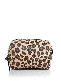 Tory Burch - Kerrington Brigitte Leopard-Print Cosmetic Bag