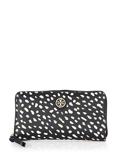 144b4c7681036 Tory Burch Kerrington Spotted Zip Continental Wallet