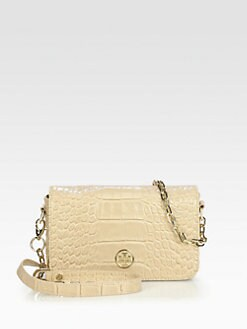 Tory Burch - Robinson Crocodile Embossed Leather Mini Bag