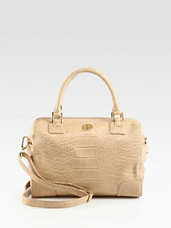 Tory Burch - Robinson Crocodile Embossed Leather Satchel