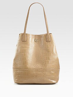 Tory Burch - Michelle Crocodile Embossed Leather Tote