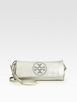 Tory Burch - Perforated Logo Long Metallic Clutch