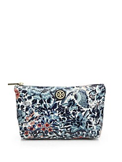 Tory Burch - Small Floral Slouchy Cosmetic Case