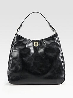 Tory Burch - Dena Glazed Leather Hobo Bag