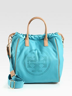 Tory Burch - Perforated Nylon Drawstring Tote