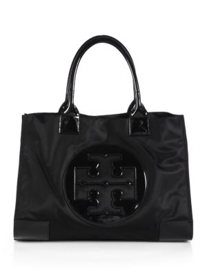 Ella Nylon & Faux Leather Tote