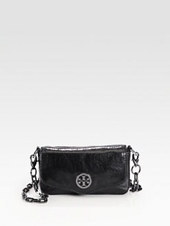 Tory Burch - Foldover Metallic Leather Mini Bag