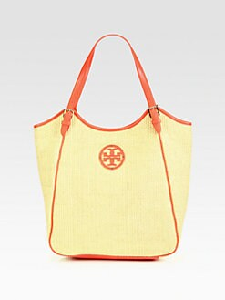 Tory Burch - Slouchy Woven Raffia Tote