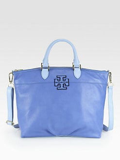 Tory Burch - Stacked Logo Two-Tone Satchel