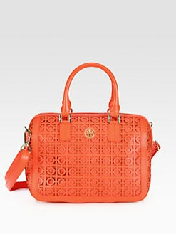 Tory Burch - Kelsey Perforated Middy Satchel