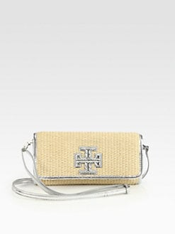Tory Burch - Stacked T Straw Clutch