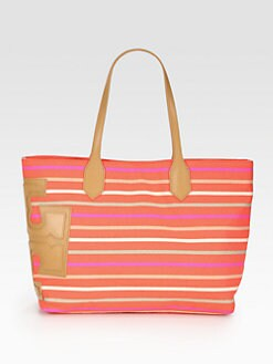 Tory Burch - Stacked T Classic Stripe East/West Tote