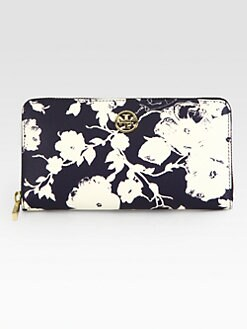 Tory Burch - Robinson Coated Canvas Zip-Around Wallet