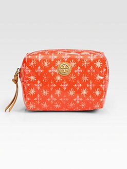 Tory Burch - Brigitte Coated Poplin Cosmetic Case/Red