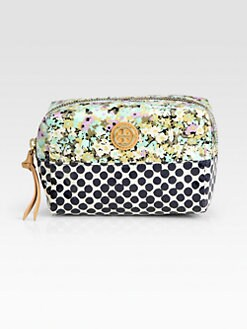 Tory Burch - Brigitte Mix-Print Coated Poplin Cosmetic Case