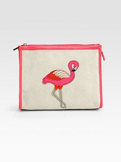 Tory Burch - Flamingo Large Cosmetic Case