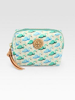 Tory Burch - Tiny Brigitte Coated Poplin Cosmetics Case