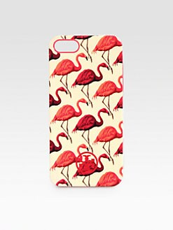 Tory Burch - Flamingo Print Hard Shell Case For iPhone 5