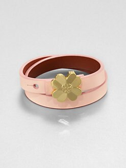 Tory Burch - Shawn Double Wrap Reversible Leather Bracelet