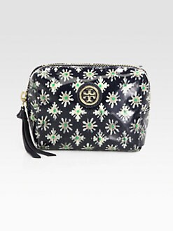 Tory Burch - Tiny Brigiette Coated Poplin Cosmetics Case