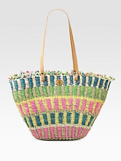 Tory Burch - Striped Straw Tote