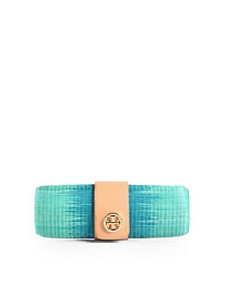 Tory Burch - Ombre Turnlock Straw Clutch