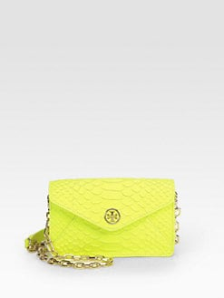 Tory Burch - Snake-Embossed Leather Convertible Crossbody Bag