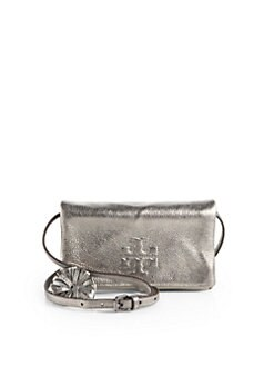 Tory Burch - Thea Metallic Foldover Crossbody Bag