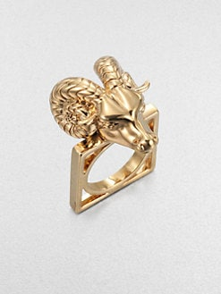 Tory Burch - 16K Goldplated Ram Head Ring