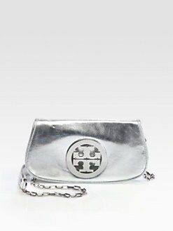 Tory Burch - Metallic Logo Convertible Clutch
