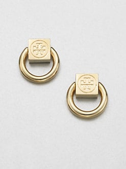 Tory Burch - Varden Logo Knocker Earrings