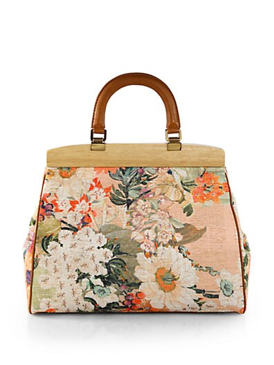 Floral Printed Cotton Tote