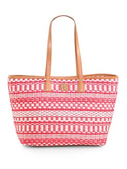 Tory Burch - Striped Woven Straw Tote