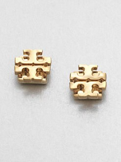 Tory Burch - Logo Stud Earrings/Goldtone