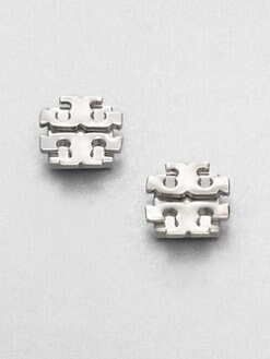 Tory Burch - Logo Stud Earrings/Silver