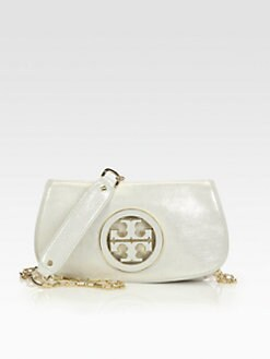 Tory Burch - Metallic Leather Convertible Clutch