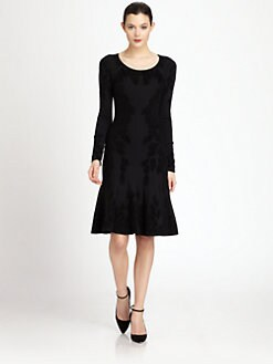 Zac Posen - Black Corn Jacquard Dress