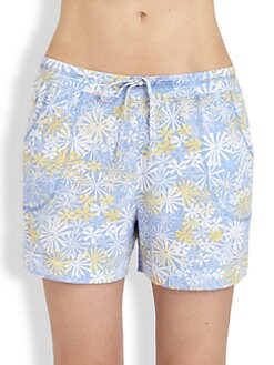 Cottonista - Floral Cotton Jersey Shorts