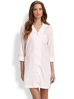 Cottonista - Striped Cotton Baptiste Sleepshirt