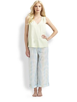 Cottonista - Watercolor Cropped Pajama Pants