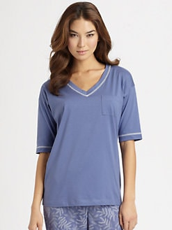 Cottonista - V-Neck Pima Cotton Pocket Tee