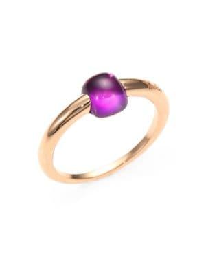 M'Ama Non M'Ama Amethyst & 18K Rose Gold Square Cabochon Ring