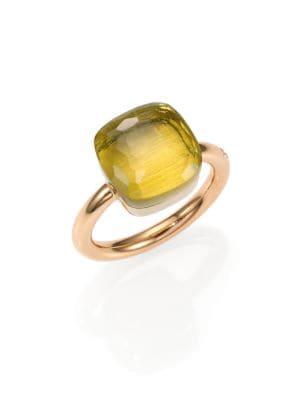 Nudo Lemon Quartz & 18K Rose Gold Large Ring