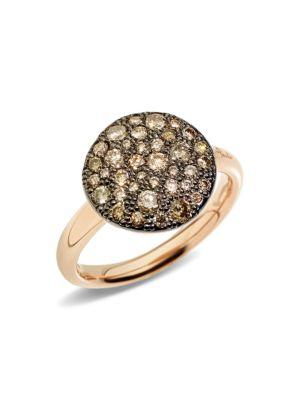 Sabbia Brown Diamond & 18K Rose Gold Ring