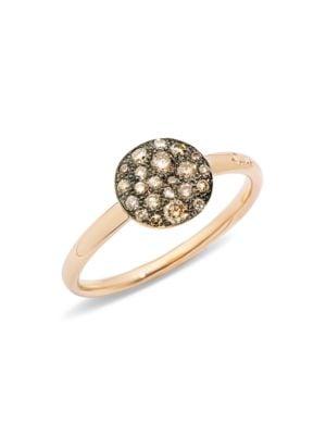 Sabbia Brown Diamond & 18K Rose Gold Small Ring