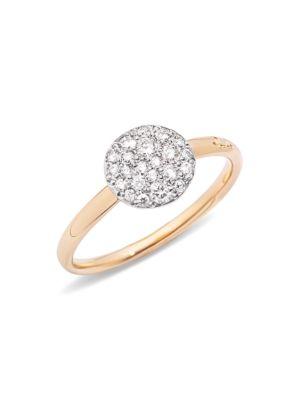 Sabbia Diamond & 18K Rose Gold Small Ring